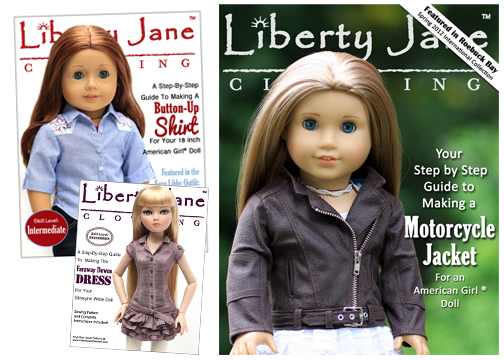18 inch Doll Clothes patterns Liberty Jane