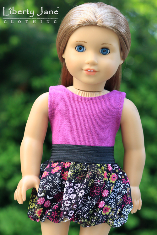 Fabulously Floral Skirt and Top for AG Dolls