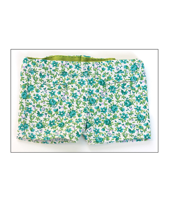 Floral Short Shorts for 18 inch Dolls