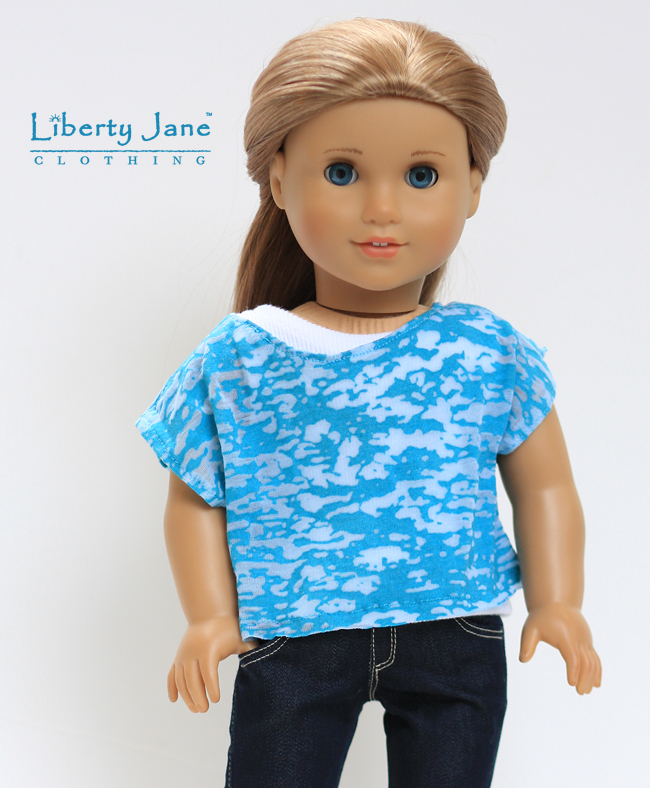 "Light Blue Knit Tank Top Shirt made for 18/"" American Girl Doll Clothes"